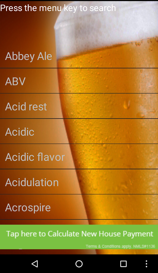 Beer Dictionary- screenshot