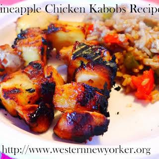 Pineapple Chicken Kabobs.
