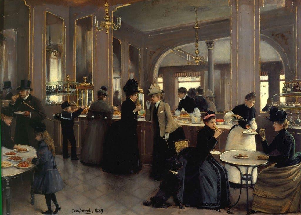 La Patisserie Gloppe au Champs Elyssées by Jean-Georges Béraud - 1889.