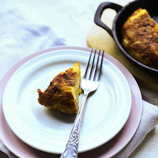 Authentic Spanish tortilla with Serrano ham.