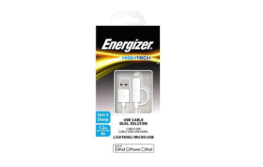 Cáp 2 in 1 Energizer HT Dual Lightning Micro USB - C11UBDUGWH4 (Trắng)_3