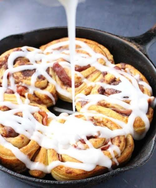 """Bacon Wrapped Cinnamon Rolls """"Once in a while, you want to be..."""