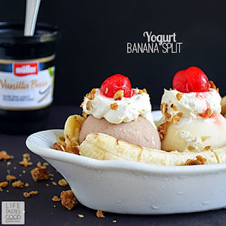 Banana Split with Yogurt