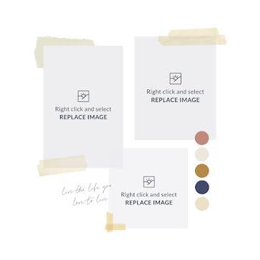 Masking Tape Mood Board - Mood Board Template