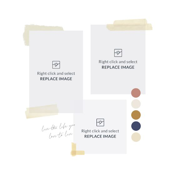 Masking Tape Mood Board - Mood Board Template