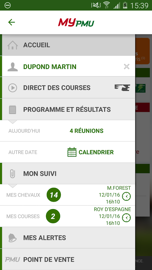 MyPMU : Information hippique- screenshot