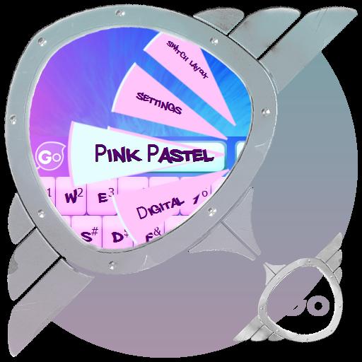 ピンクのパステル GO Keyboard 個人化 LOGO-玩APPs