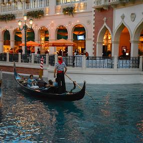 American Venice by Boyd Smith - City,  Street & Park  Street Scenes ( las vegas, casino )