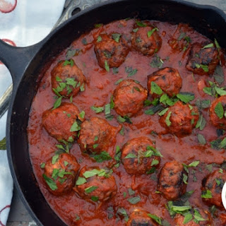 Bison Meatballs with Dates and Blue Cheese.