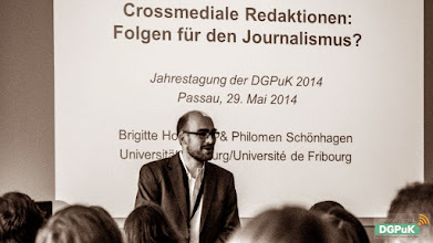 """Photo: 59. Jahrestagung der DGPuK über """"Digitale Öffentlichkeit(en)"""" an der Universität Passau  Panelvortrag   Foto: Janertainment Janine Amberger"""