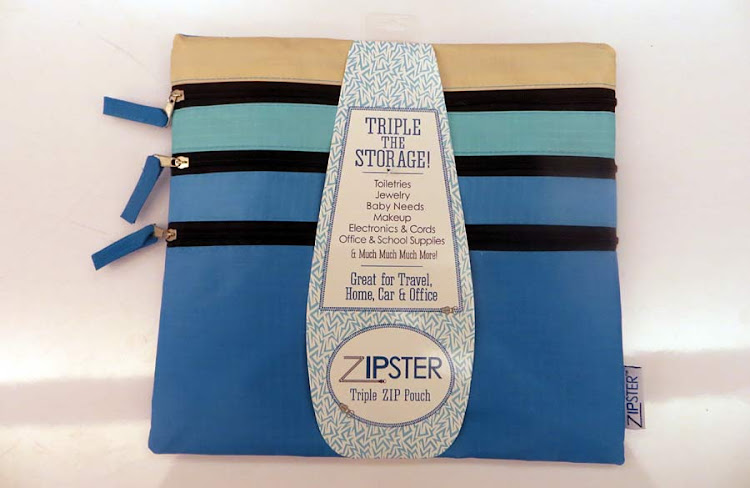 Zipster: a lightweight pouch to keep your cosmetics and jewelry organized.