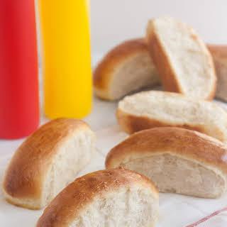 Homemade Hot Dog Buns.
