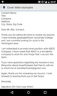 Cover letter examples - náhled