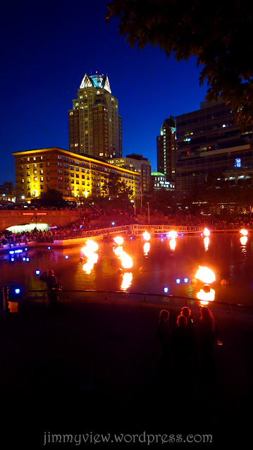Waterfire in its glory.