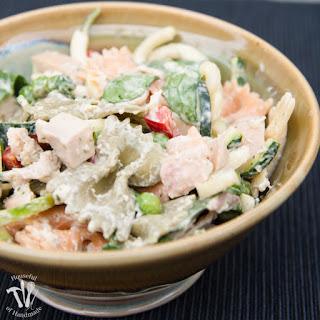 Healthy Creamy Italian Pasta Salad
