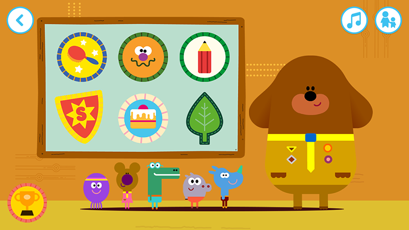 Hey Duggee: The Big Badge App- screenshot