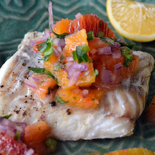 Grilled Halibut with Citrus Salsa.