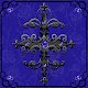 Blue Gothic Cross theme for PC-Windows 7,8,10 and Mac