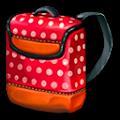 赤いドットデイバッグ