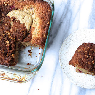 Cranberry Walnut Sour Cream Coffee Cake.