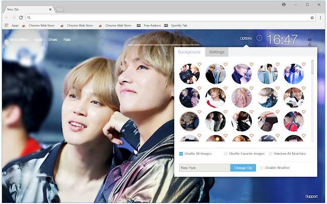 V & Jimin BTS HD Wallpapers VMin New Tab