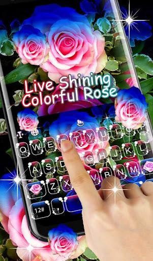 Live 3D Shining Colorful Rose Keyboard Theme 6.6.2.2019 screenshots 2