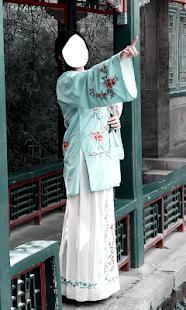 čínské šaty fotomontáž - náhled