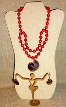 Photo: <BEREHYNYA> {Great Goddess Protectress} unique one-of-a-kind statement jewellery by Luba Bilash ART & ADORNMENT  # 121SEA BLOSSOM ~ ЦВІТ МОРЯ - copper pendant & earrings, coral, copper, rose gold vermeil $150/set SOLD/ПРОДАНИЙ
