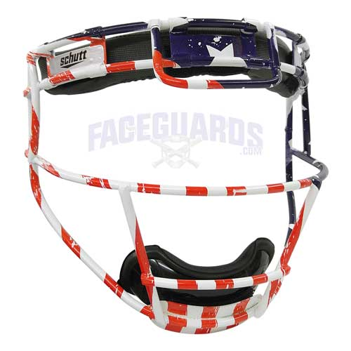 Schutt Pitchers Facemask USA American Flag
