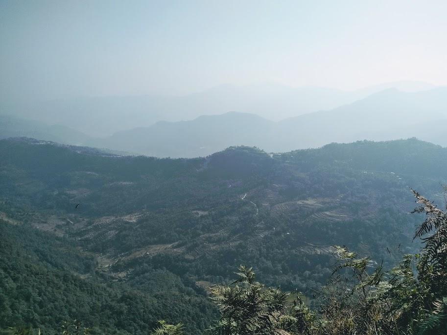 山の中腹からの景色