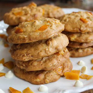 Mango White Chocolate Oatmeal Cookies