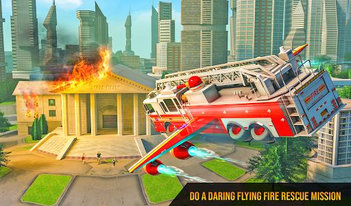 Flying Firefighter Truck Transform Robot Games 19 screenshots 9