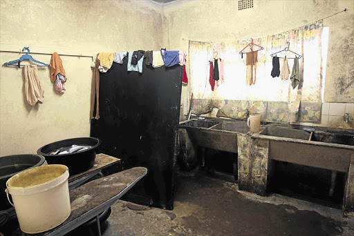 Accommodation shared by 28 nurses at Madweleni Hospital, in Eastern Cape. The squalor is indicative of the shocking state of the healthcare sector, in which corruption has reached 'uncontrollable levels', according to a study by the Wits School of Public Health
