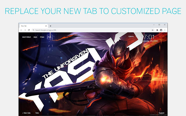 League Of Legends Yasuo Wallpapers LoL NewTab