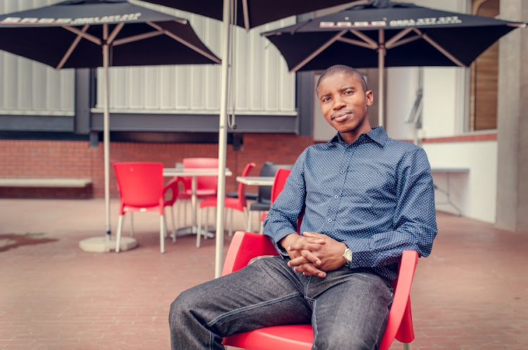 Paseka Lesolang won the R1m first prize in the City of Joburg's Green City Startup competition for his WHC Leak-Less Valve to save water in toilet cisterns. Picture: SUPPLIED