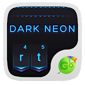 Dark Neon GO Keyboard Theme