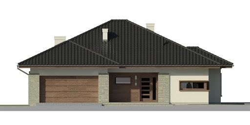 Dom przy Pastelowej 2 - Elewacja przednia
