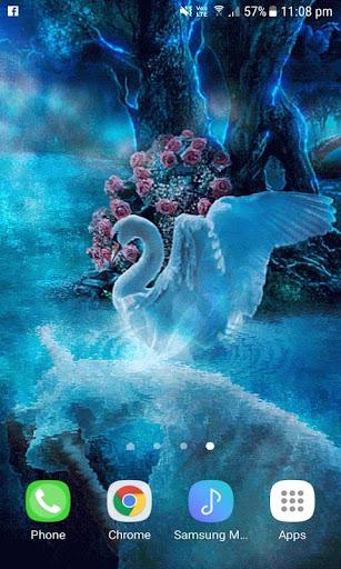 Blue Swan Live Wallpaper screenshots 3