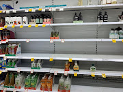 Empty shelves are pictured at Coles Supermarket following reports of coronavirus in the Canberra suburb of Manuka, Australia, March 2, 2020 in this picture obtained by Reuters from social media.