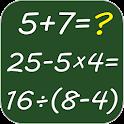 Mental arithmetic. Math kids games icon