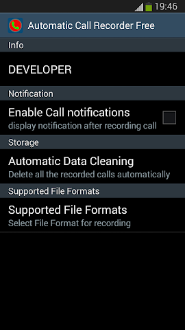 android Automatic Call Recorder Free Screenshot 3