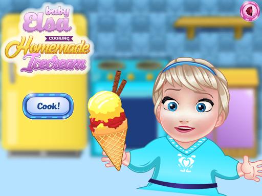 自家製アイスクリームを調理