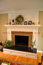 Photo: (After) Veraldi's Fireplace Mantle, over-Mantle, and granite surround Morristown, NJ