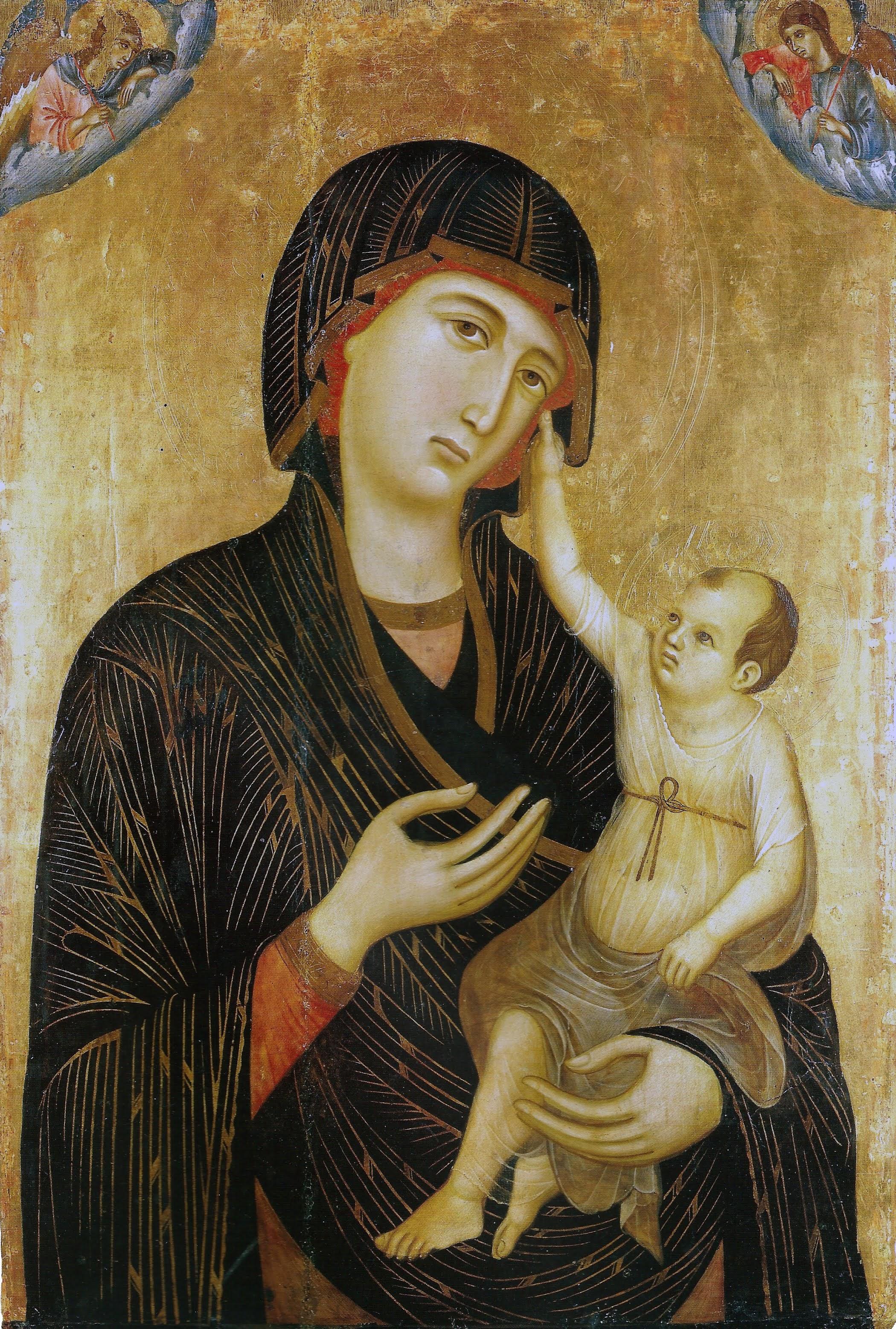 Duccio di Buoninsegna, Madonna di Crevole, 1283-1284[3], Siena, Museo dell'Opera della Metropolitana