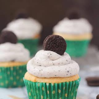 Peanut Butter Oreo Cupcakes.