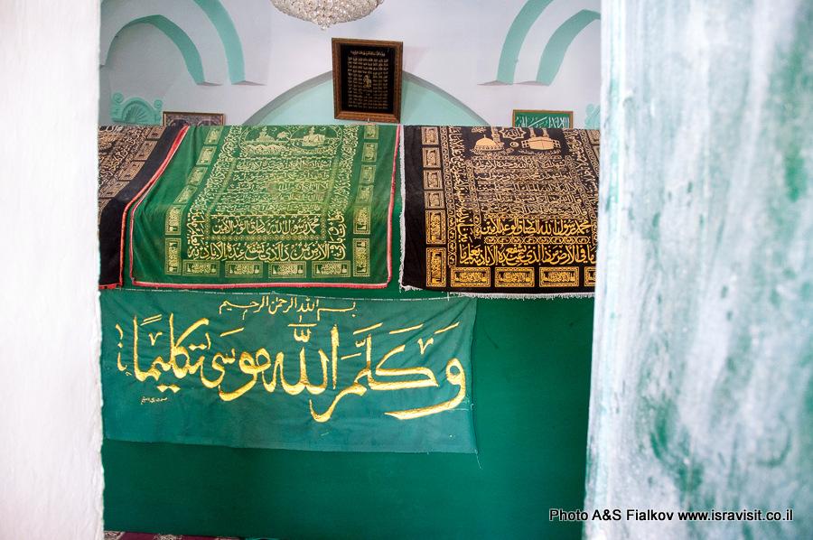 Гробница Моисея, расположенная по мусульманской традиции, в Наби Муса.