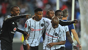 Vincent Pule of Orlando Pirates celebrates goal with teammates during the Absa Premiership match between Orlando Pirates and AmaZulu on 25 January 2020 at Orlando Stadium, Pretoria.