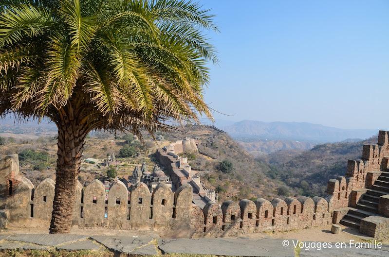 Kumbhalgarh, vue de la muraille