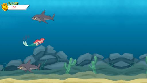 Mermaid Ariel Shark Attack