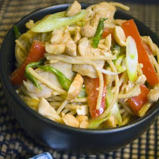 Thai Peanut Turkey and Noodles - A Leftover Turkey Recipe Revolution.